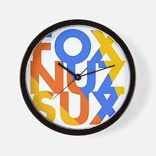 Fox_Nuz_Sux_4 Wall Clock