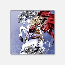 "Anime Warrior on Horseback8 Square Sticker 3"" x 3"""