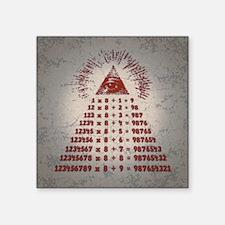 "mathemagic-TIL Square Sticker 3"" x 3"""