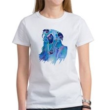 Borzoi Head in Blue Tee