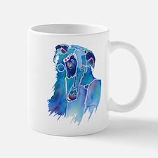 Borzoi Head in Blue Mug