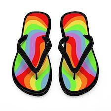 Rainbow Swirl Flip Flops Flip Flops
