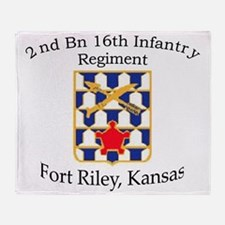 2nd Bn 16th Infantry Throw Blanket