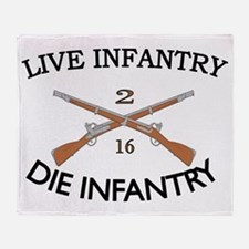 2nd Bn 16th Infantry cap2 Throw Blanket