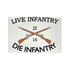 2nd Bn 16th Infantry cap2 Rectangle Magnet