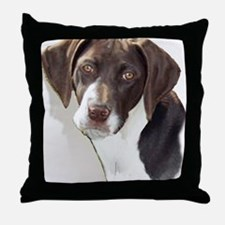 german shorthair pointer portait Throw Pillow