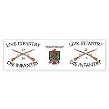 2nd Bn 16th Infantry mug4 Bumper Sticker