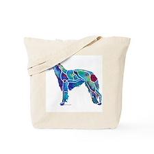 Whimzical Borzoi Emily Blue Tote Bag