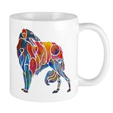 Borzoi in Many Colors Mug
