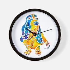 Bassett Hound Gifts Wall Clock