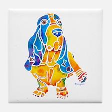 Bassett Hound Gifts Tile Coaster