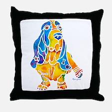 Bassett Hound Gifts Throw Pillow