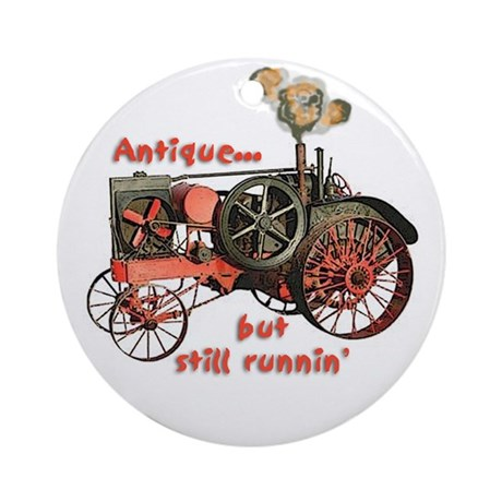 antique tractor Ornament (Round)