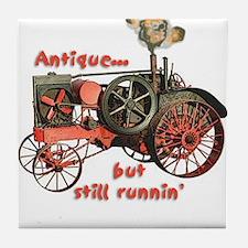 antique tractor Tile Coaster