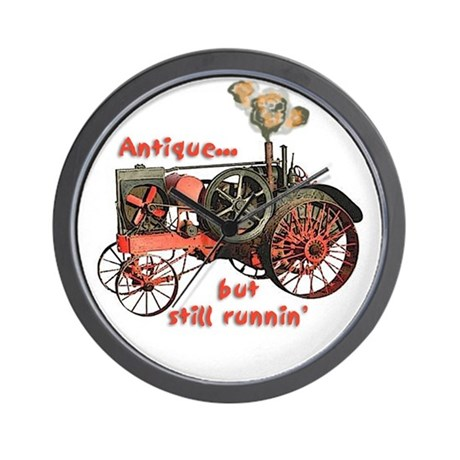 antique tractor Wall Clock