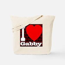 ilove_gabby_30percent_black Tote Bag