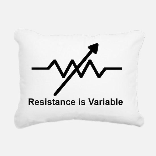 variable resistor Rectangular Canvas Pillow