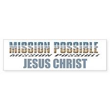 Mission Possible Bumper Bumper Sticker