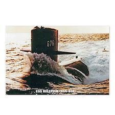 billfish greeting card Postcards (Package of 8)