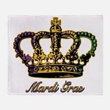 MardiGrasFCrown4tyTR Throw Blanket