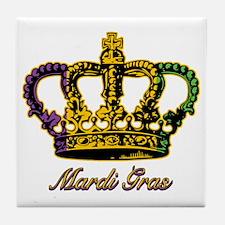 MardiGrasFCrown4tyTR Tile Coaster