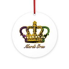 MardiGrasFCrown4tyTR Round Ornament