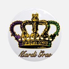 MardiGrasFCrown4tyTR Round Ornament
