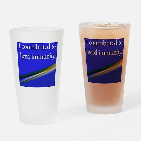 herdimmunity Drinking Glass