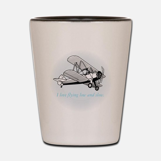 biplane low and slow Shot Glass