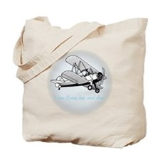 biplane low and slow Tote Bag