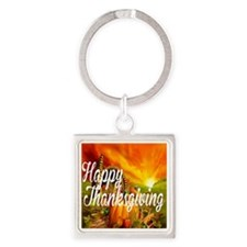 Thanksgiving Square Keychain
