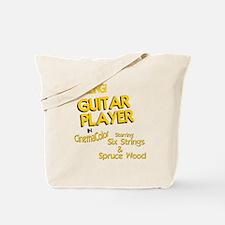 old movie guitar player design Tote Bag