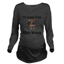 Little Weiner Long Sleeve Maternity T-Shirt