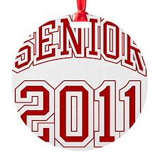 Senior of 2011 red Ornament