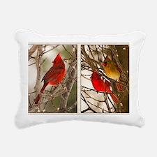 cardinalstwopics Rectangular Canvas Pillow