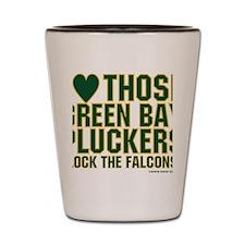 I Love Those Green Bay Pluckers Shot Glass