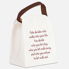 fatedecides2 Canvas Lunch Bag
