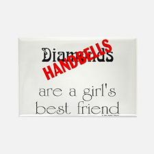 Girl's Best Friend Rectangle Magnet (10 pack)