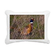 (3) Pheasant  407 Rectangular Canvas Pillow
