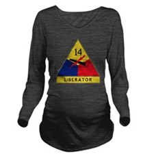 14th Armored Divisio Long Sleeve Maternity T-Shirt