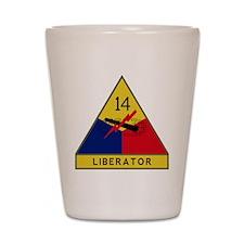 14th Armored Division - Liberators Shot Glass