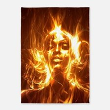 Soul on Fire 83 5'x7'Area Rug