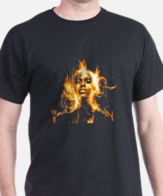 ghostly fire 10 by 10 200 DPI T-Shirt