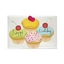 happy_birthday_cupcakes2 Rectangle Magnet