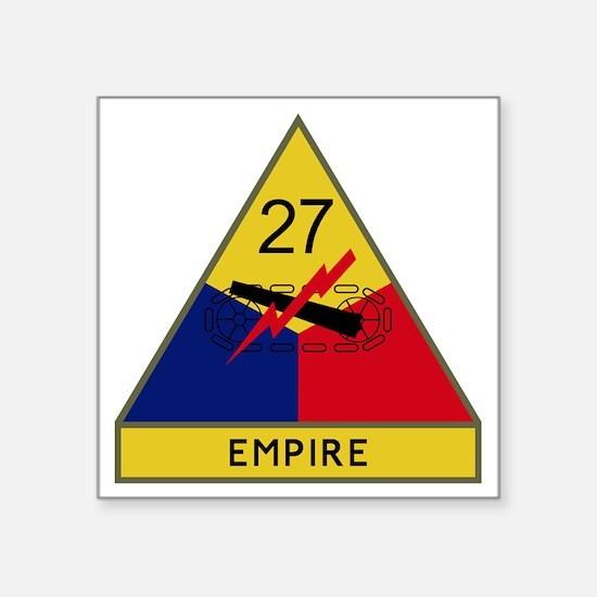 """27th Armored Division - Emp Square Sticker 3"""" x 3"""""""