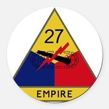 27th Armored Division - Empire Round Car Magnet