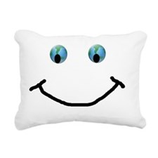 Happy Earth Rectangular Canvas Pillow