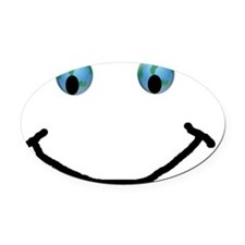Happy Earth Oval Car Magnet