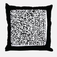 QR-US_Amendment_1 Throw Pillow