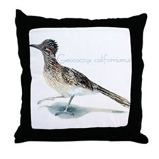 desert roadrunner Throw Pillow